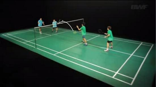 jenis pukulan badminton - low service